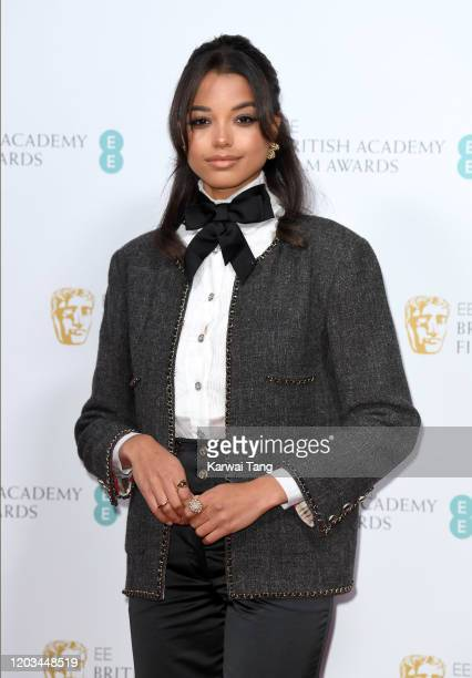 Ella Balinska attends the EE British Academy Film Awards 2020 Nominees' Party at Kensington Palace on February 01, 2020 in London, England.