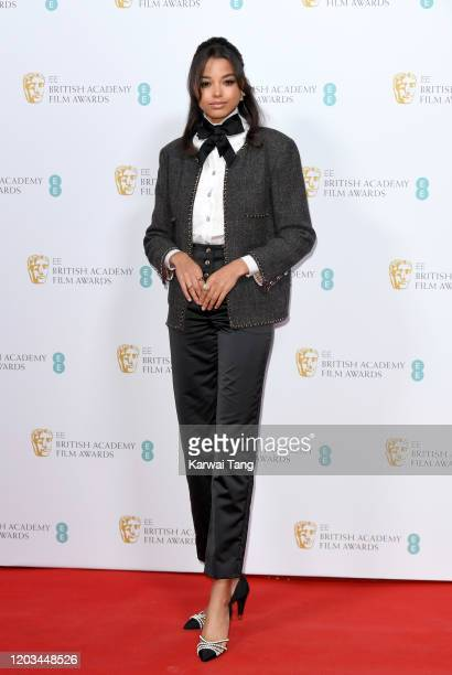 Ella Balinska attends the EE British Academy Film Awards 2020 Nominees' Party at Kensington Palace on February 01 2020 in London England