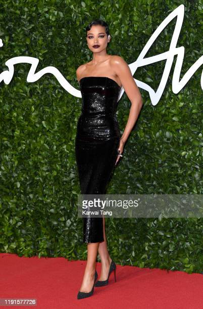 Ella Balinska attends The Fashion Awards 2019 at the Royal Albert Hall on December 02 2019 in London England