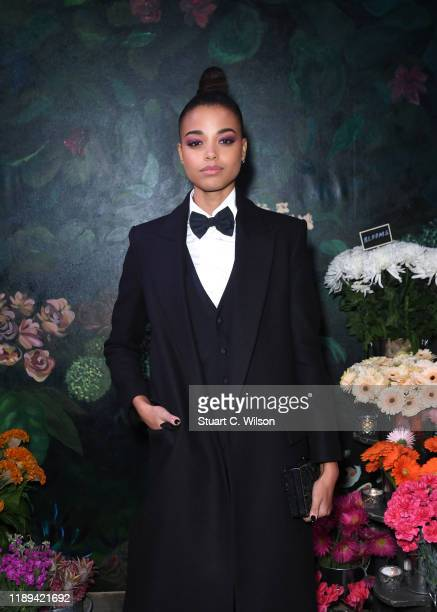 Ella Balinska attends the gala dinner in honour of Edward Enninful winner of the Global VOICES Award 2019 during #BoFVOICES on November 22 2019 in...