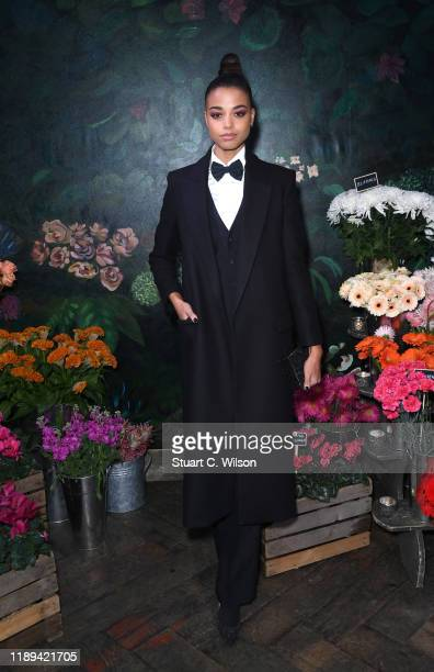 Ella Balinska attends the gala dinner in honour of Edward Enninful, winner of the Global VOICES Award 2019, during #BoFVOICES on November 22, 2019 in...