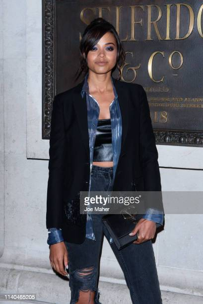 Ella Balinska attends the Pat McGrath 'A Technicolour Odyssey' Campaign launch party at Brasserie Of Light on April 04 2019 in London England