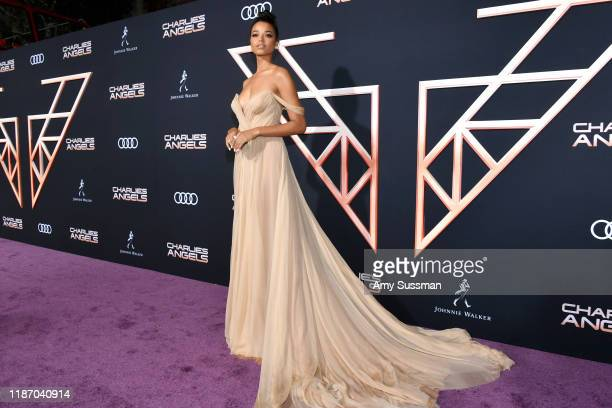 Ella Balinska attends the premiere of Columbia Pictures' Charlie's Angel's at Westwood Regency Theater on November 11 2019 in Los Angeles California