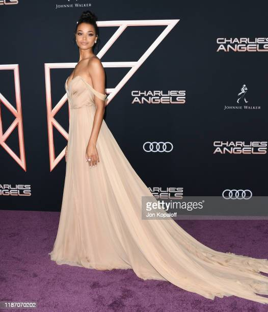 Ella Balinska attends the premiere of Columbia Pictures' Charlie's Angels at Westwood Regency Theater on November 11 2019 in Los Angeles California