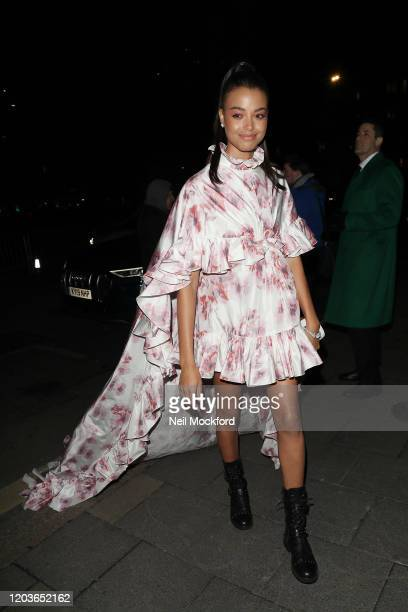 Ella Balinska attends the Vogue x Tiffany Fashion Film after party for the EE British Academy Film Awards 2020 at Annabel's on February 02 2020 in...