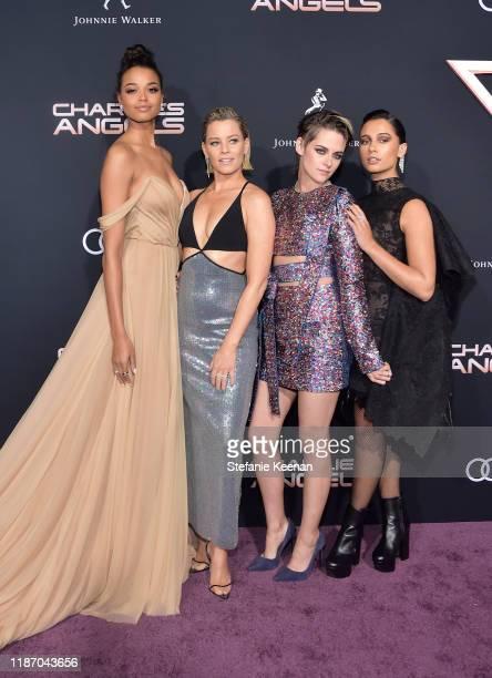 Ella Balinska Elizabeth Banks Kristen Stewart and Naomi Scott attend Audi Arrivals At The World Premiere Of Charlie's Angels on November 11 2019 in...
