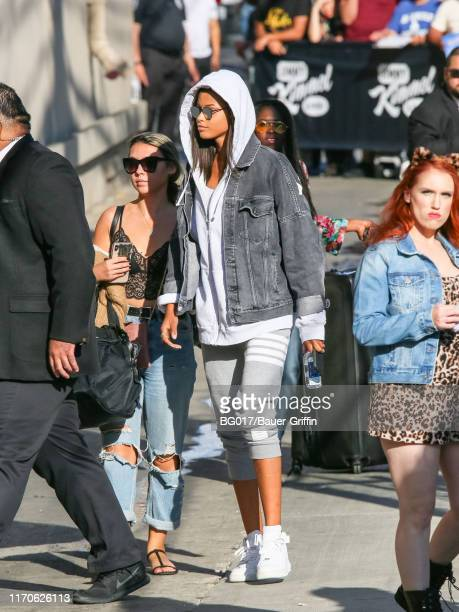 Ella Balinska is seen arriving at 'Jimmy Kimmel Live' on September 23 2019 in Los Angeles California