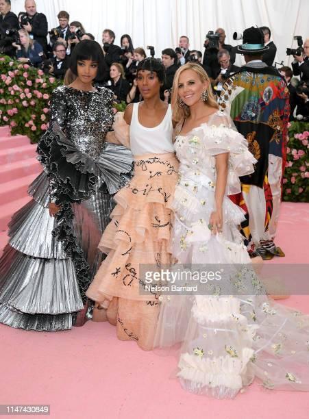 Ella Balinska, Kerry Washington and Tory Burch attend The 2019 Met Gala Celebrating Camp: Notes on Fashion at Metropolitan Museum of Art on May 06,...