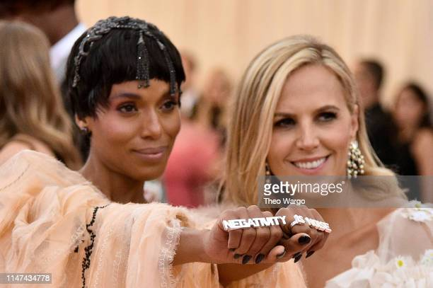 Ella Balinska Kerry Washington and Tory Burch attend The 2019 Met Gala Celebrating Camp Notes on Fashion at Metropolitan Museum of Art on May 06 2019...