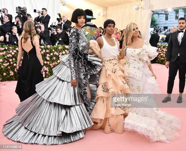 Ella Balinska Kerry Washington and Tory Burch attend The 2019 Met Gala Celebrating Camp Notes on Fashion at Metropolitan Museum of Art on May 06 2019...