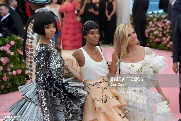 Ella Balinska Kerry Washington and Tory Burch attend The Metropolitan Museum Of Art's 2019 Costume Institute Benefit Camp Notes On Fashion at...