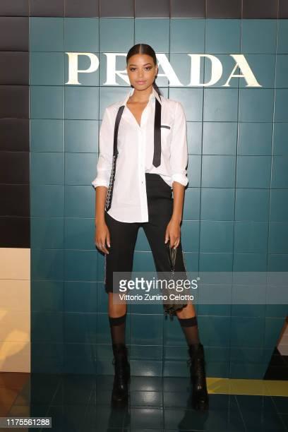 Ella Balinskattend Prada Spring/Summer 2020 Womenswear Fashion Show on September 18 2019 in Milan Italy