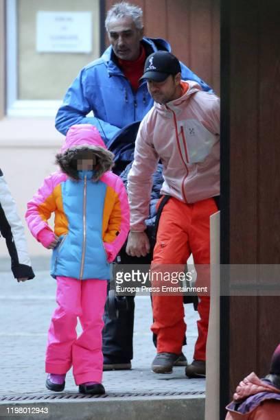 Ella Bisbal Tablada and David Bisbal are seen on January 04 2020 in Baqueira Beret Spain