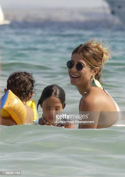 Ella Bisbal Tablada and Elena Tablada are seen on August 05 2019 in Ibiza Spain