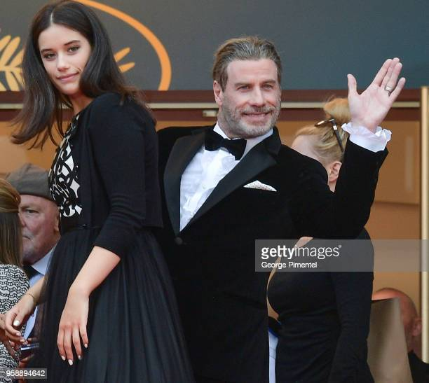 Ella Bleu Travolta and John Travolta attend the screening of Solo A Star Wars Story during the 71st annual Cannes Film Festival at Palais des...
