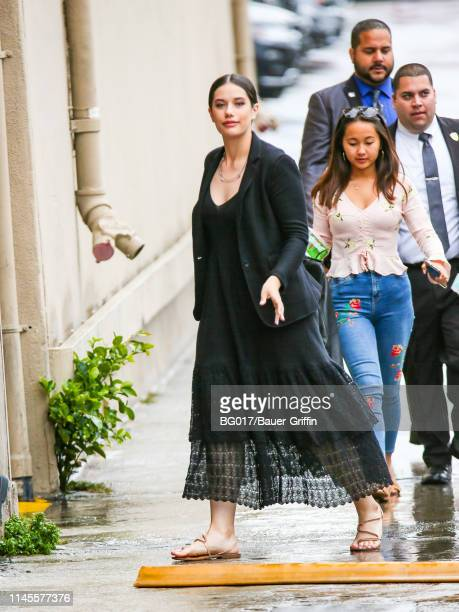 Ella Bleu Travolta is seen arriving 'Jimmy Kimmel Live' on May 22, 2019 in Los Angeles, California.