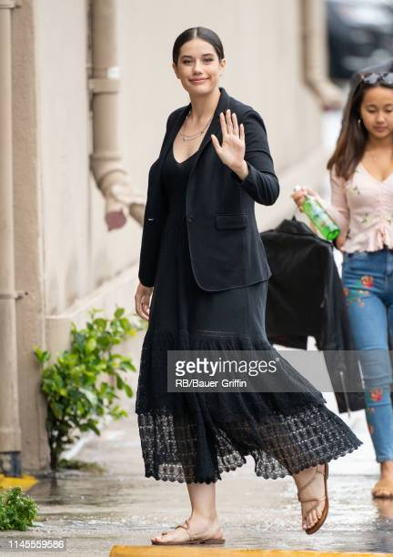 Ella Bleu Travolta is seen at 'Jimmy Kimmel Live' on May 22 2019 in Los Angeles California