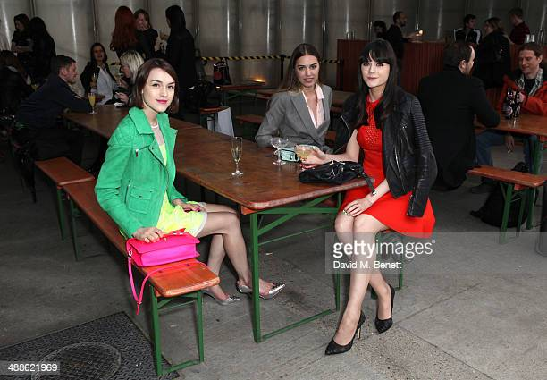 Ella Catliff Amber Le Bon and Lilah Parson attend the Karen Millen dinner screening of No More Tiaras at Shrimpy's on May 7 2014 in London England