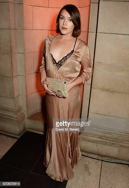 Ella Catliff attends a private view of new exhibition Undressed A Brief History Of Underwear at The VA on April 13 2016 in London England