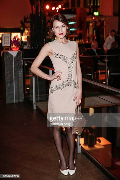 Ella Catliff attends the Mulberry Store Opening on November 27 2014 in Frankfurt am Main Germany