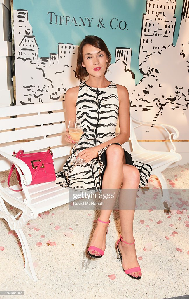Ella Catliff attends the Tiffany & Co. immersive exhibition 'Fifth & 57th' at The Old Selfridges Hotel on July 1, 2015 in London, England.