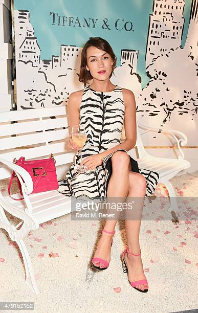 Ella Catliff attends the Tiffany Co immersive exhibition 'Fifth 57th' at The Old Selfridges Hotel on July 1 2015 in London England