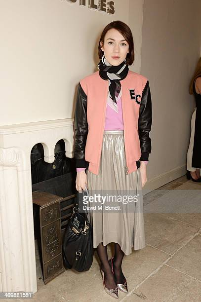 Ella Catliff attends the Whistles presentation at London Fashion Week AW14 at 33 Fitzroy Place on February 17 2014 in London England