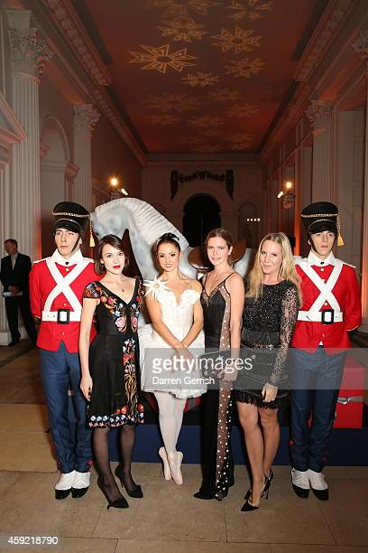 Ella Catliff, Katie Redman and Alice Naylor-Leyland attends the Sybarite dinner at The Orangery on November 18, 2014 in London, England.