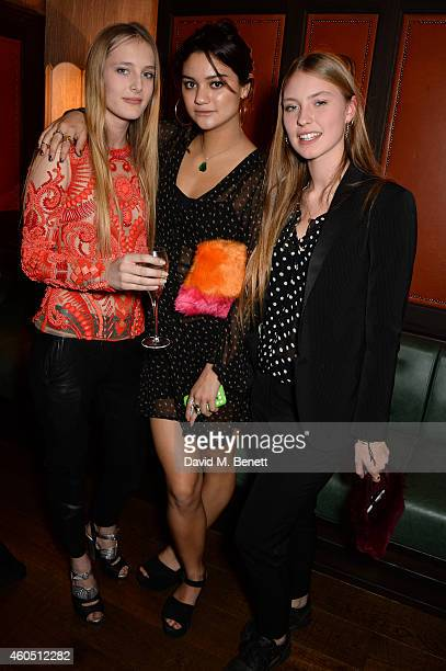 Ella Dallaglio and guests attend the LOVE x Balmain Xmas Party at The Ivy Market Grill on December 15 2014 in London England