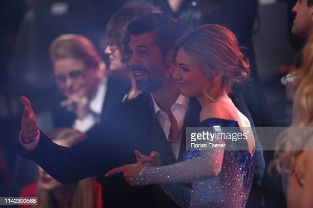 Ella Endlich and her boyfriend are seen during the 4th show of the 12th season of the television competition Let's Dance on April 12 2019 in Cologne...