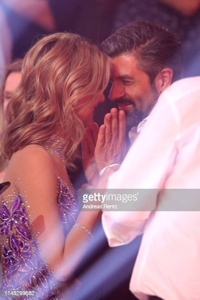 Ella Endlich and her boyfriend are seen on stage during the 5th show of the 12th season of the television competition Let's Dance on April 26 2019 in...
