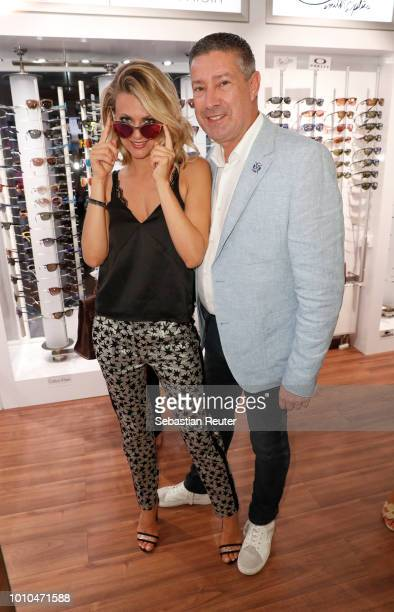Ella Endlich and Joachim Llambi at the Late Night Shopping at Designer Outlet Soltau on August 3 2018 in Soltau Germany