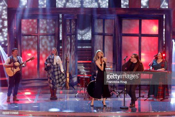 Ella Endlich and the Kelly Family during the television show 'Willkommen bei Carmen Nebel' on April 8 2017 in Magdeburg Germany