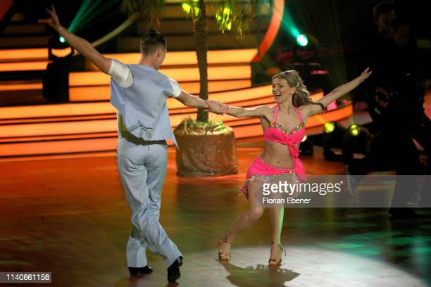 Ella Endlich and Valentin Lusin perform during the 3rd show of the 12th season of the television competition Let's Dance on April 05 2019 in Cologne...
