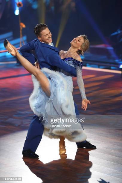 Ella Endlich and Valentin Lusin perform on stage during the 4th show of the 12th season of the television competition Let's Dance on April 12 2019 in...