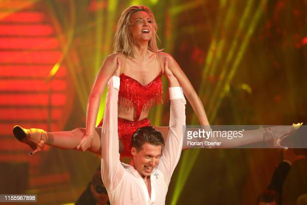 Ella Endlich and Valentin Lusin perform on stage during the finals of the 12th season of the television competition Let's Dance on June 14 2019 in...