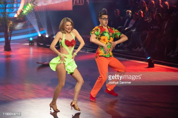 Ella Endlich and Valentin Lusin perform onstage during the 8th show of the 12th season of the television competition Let's Dance on May 17 2019 in...