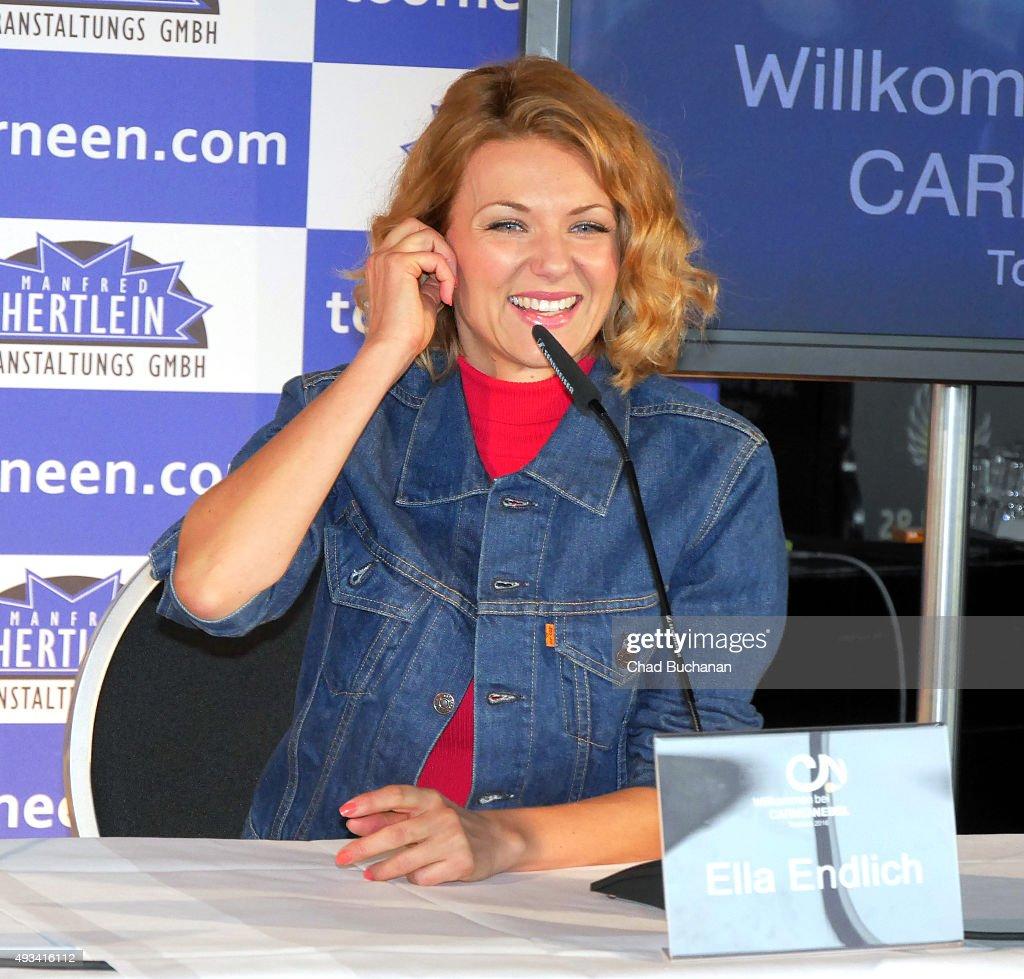 Ella Endlich at the 'Willkommen bei Carmen Nebel' Tour - Press Conference on October 20, 2015 in Berlin, Germany.
