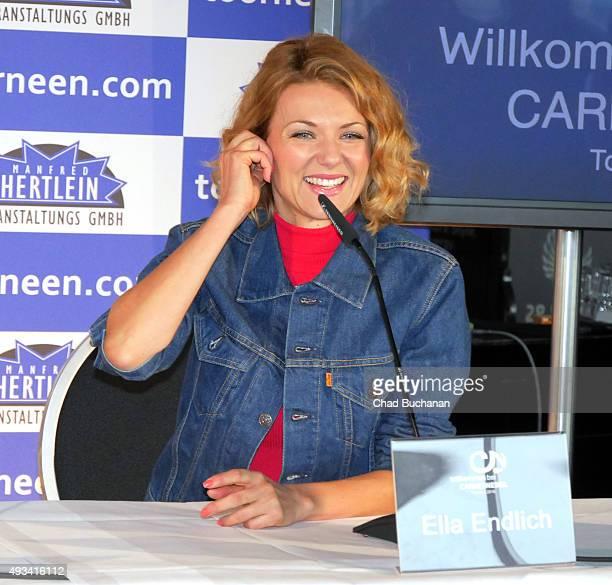 Ella Endlich at the 'Willkommen bei Carmen Nebel' Tour Press Conference on October 20 2015 in Berlin Germany