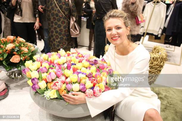 Ella Endlich attends the opening of Luisa Cerano Flagship Store on January 27 2018 in Duesseldorf Germany
