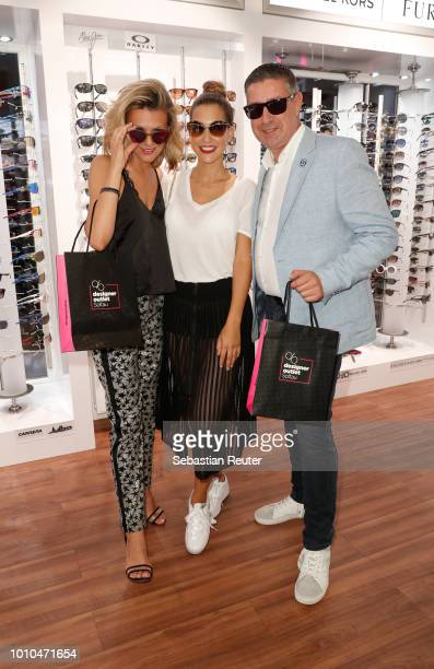 Ella Endlich CleaLacy Juhn and Joachim Llambi at the Late Night Shopping at Designer Outlet Soltau on August 3 2018 in Soltau Germany