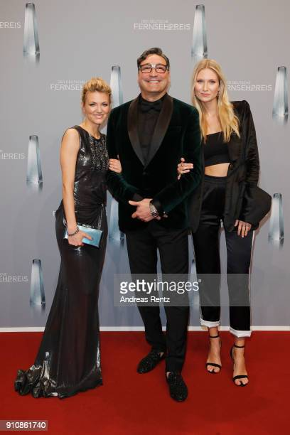 Ella Endlich Mousse T and Carolin Niemczyk attend the German Television Award at Palladium on January 26 2018 in Cologne Germany