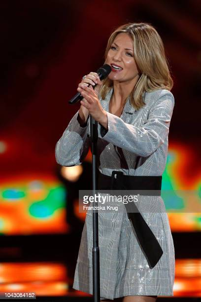 Ella Endlich performs during the television show 'Willkommen bei Carmen Nebel' at Velodrom on September 29 2018 in Berlin Germany