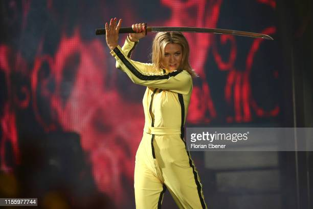 Ella Endlich performs on stage during the finals of the 12th season of the television competition Let's Dance on June 14 2019 in Cologne Germany