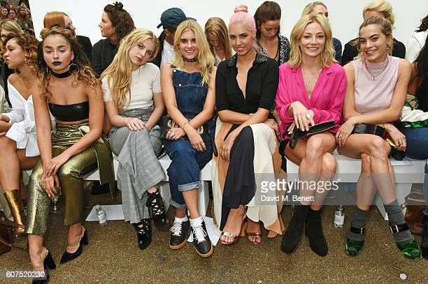 Ella Eyre Anais Gallagher Tigerlily Taylor Amber Le Bon Clara Paget and Chelsea Leyland attend the Topshop Unique show during London Fashion Week...