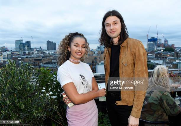 Ella Eyre and James Bay attend the launch of James Bay's new Topman collection at The Ace Hotel on August 8 2017 in London England