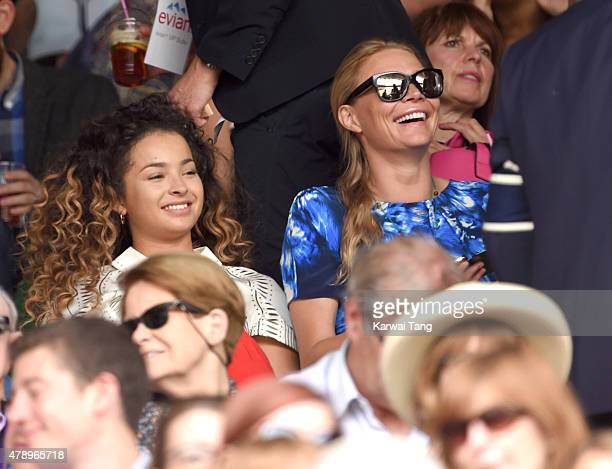 Ella Eyre and Jodie Kidd attend day one of the Wimbledon Tennis Championships on June 29 2015 in London England