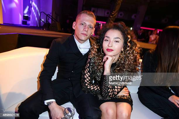 Ella Eyre and Lewi Morgan attend the Icons Idols No 3 event to celebrate the 10th anniversary of InTouch magazine on September 24 2015 in Duesseldorf...