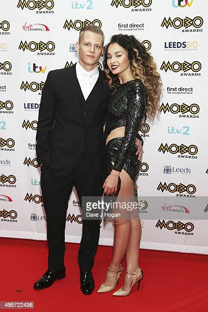 Ella Eyre and Lewi Morgan attend the MOBO Awards at First Direct Arena on November 4 2015 in Leeds England