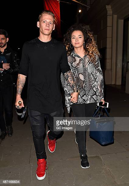 Ella Eyre and Lewi Morgan attend the Team GB Gala Ball at The Royal Opera House on September 9 2015 in London England